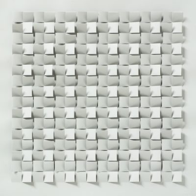 Black - Spectrum Series, 2010, 56 x 56 cm, ink on cut and folded paper