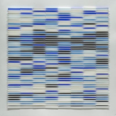 Blue Depths, 2010, 56 x 56 cm, watercolour on cut and folded paper