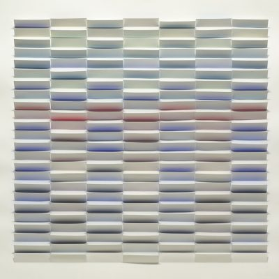 Blue Haze, 2011, 56 x 56 cm, watercolour on cut and folded paper