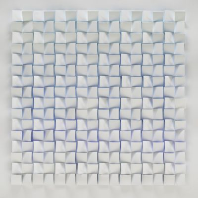Blue - Spectrum Series, 2010, 56 x 56 cm, watercolour on cut and folded paper