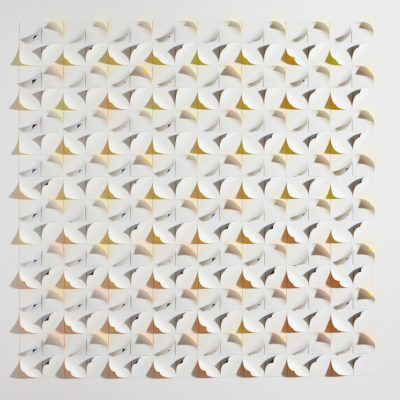 Light Maze, 2015, 56 x 56 cm, watercolour on cut and curled paper