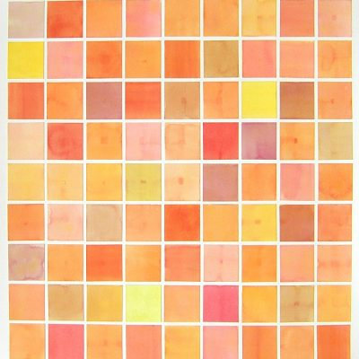 Colour Card Series II - Orange, 2010, 56 x 56 cm, watercolour on cut paper