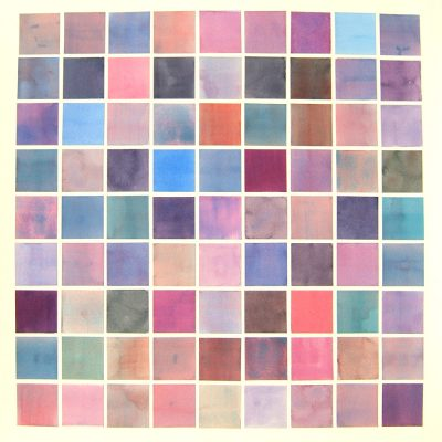 Colour Card Series II -  Violet, 2010, 56 x 56 cm, watercolour on cut paper