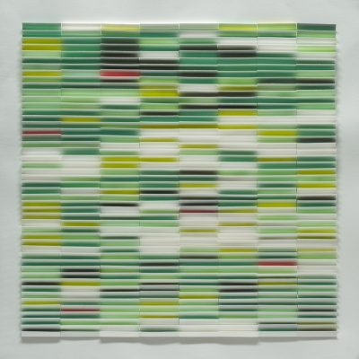 Green Field, 2010, 56 x 56 cm, watercolour on cut and folded paper