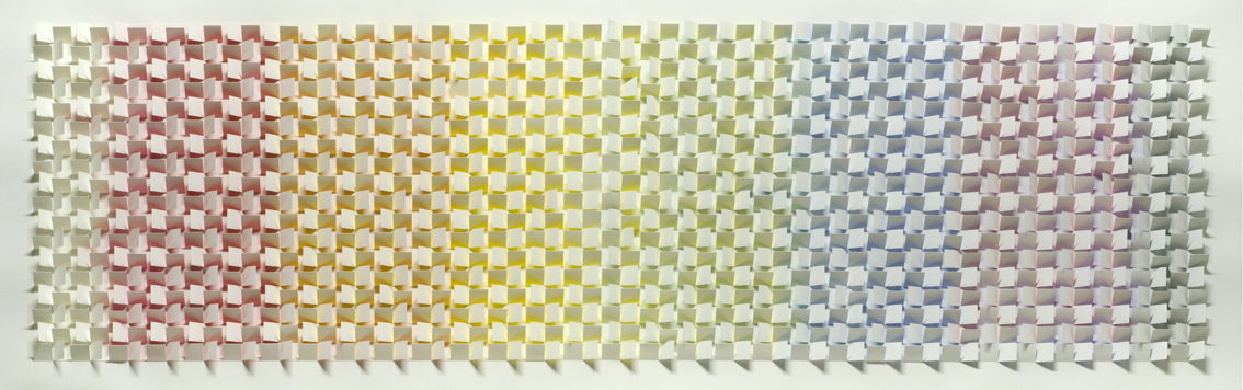 Light Spectrum, 2011, 200 x 66 cm, watercolour on cut and folded paper