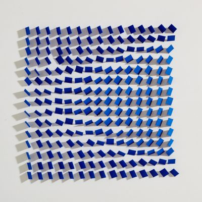 Blue Velvet, 2015, 30 x 30 cm, cut and folded paper