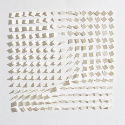 White Velvet, 2015, 30 x 30 cm, cut and folded paper