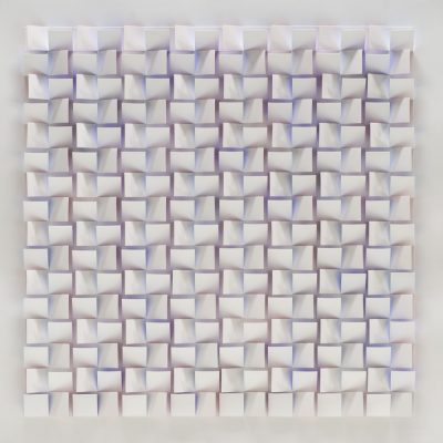 Violet - Spectrum Series, 2010, 56 x 56 cm, watercolour on cut and folded paper
