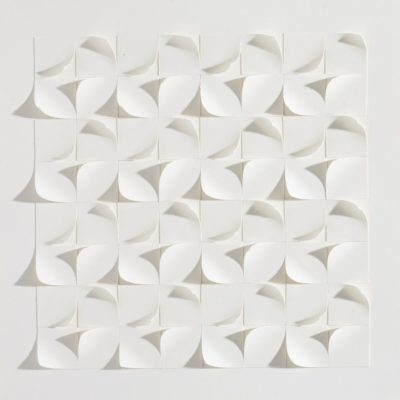 Tiling XV, 2015, 20 x 20, cut and curled paper