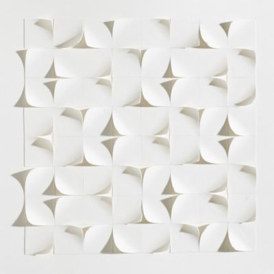 Tiling XVI, 2015, 20 x 20, cut and curled paper