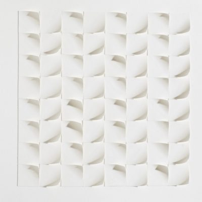 Tiling II, 2015, 20 x 20, cut and curled paper