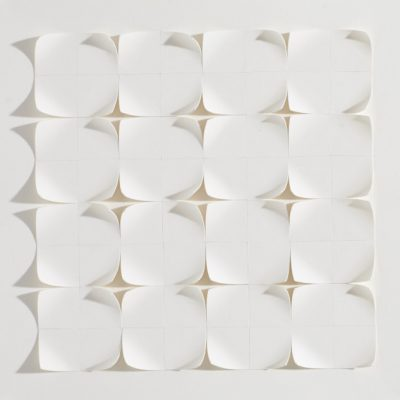 Tiling VII, 2015, 20 x 20, cut and curled paper