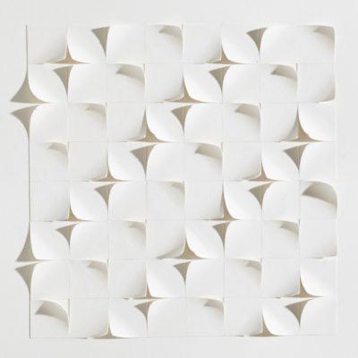Tiling IX, 2015, 20 x 20, cut and curled paper