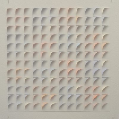 #1 Coloured Sketch, 2014, 42 x 42 watercolour on cut and curled paper