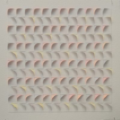 #2 Coloured Sketch, 2014, 42 x 42 watercolour on cut and curled paper