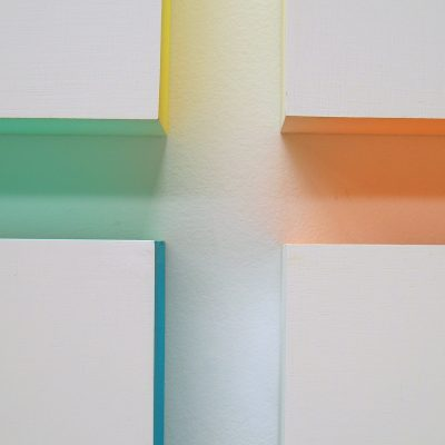Standing Boxes, 2009, each pillar 180 x 40 x 40, acrylic on wood