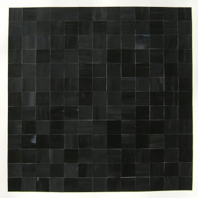 Black Square Reconstructed I, 2013, 45 x 45 cm, ink on cut paper