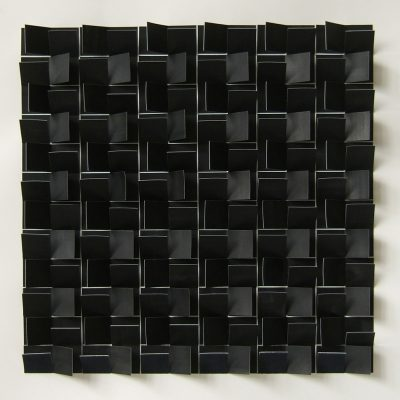 Black Square Reconstructed III, 201345 x 45 cm, ink on cut and folded paper
