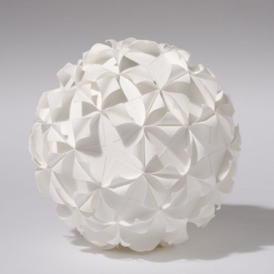 Form 5/4, 2012, 27 cm diameter, torn and curled paper on paper