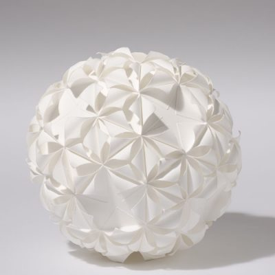 Form 5/3, 2012, 26 cm diameter, torn and curled paper on paper