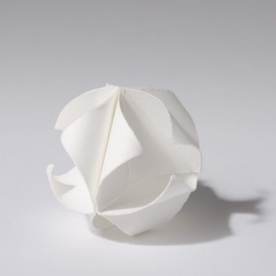 Pyramid, 2012, 7.5 x 7.5 cm, torn and curled paper on paper
