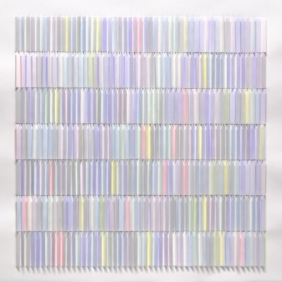 Violet Shimmer, 2013,  56 x 56 cm, watercolour on cut and folded paper