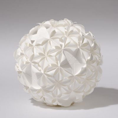Form 6/5, 2012, 28 cm diameter, torn and curled paper on paper