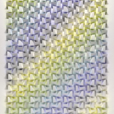 Double Rainbow, 2014, 62 x 86 cm, watercolour on cut and folded paper