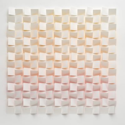 City Sunset, 2008, 56 x 56 cm, watercolour on cut and folded paper