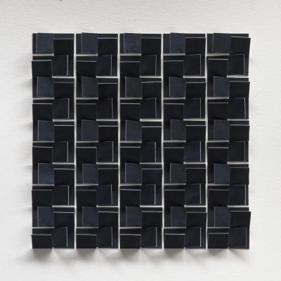 Study for Light Maze (Dark), 2019, 28 x 28, ink on cut and folded paper