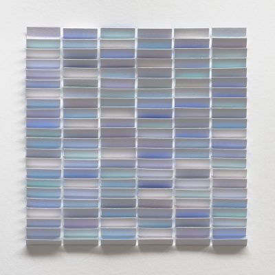 Study for Soft Blue, 2019, 28 x 28, ink on cut and folded paper